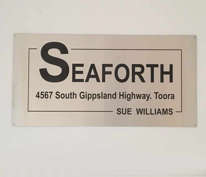 House Sign Customised Stainless Steel Laser Engraved 600x300mm
