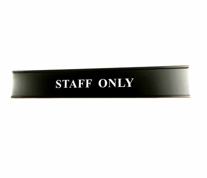 Professional Door Name Plate Laser Engraved Durablack with Extrusion 250x 41mm