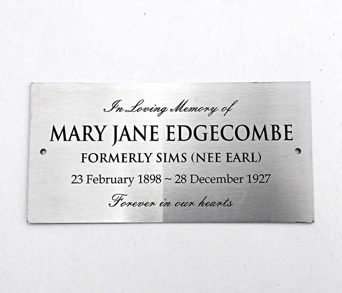 Commemorative Plaque Custom Engraved Stainless Steel 300 x 450mm