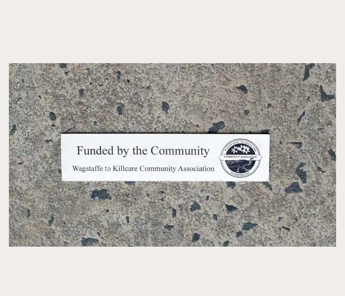 Commemorative Plaque Custom Engraved stainless Steel 200 x 50 mm