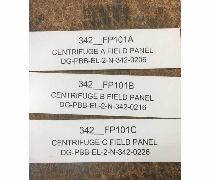 Electrical Switchboard Traffolyte Labels with Strong Adhesive Backing 90x30mm