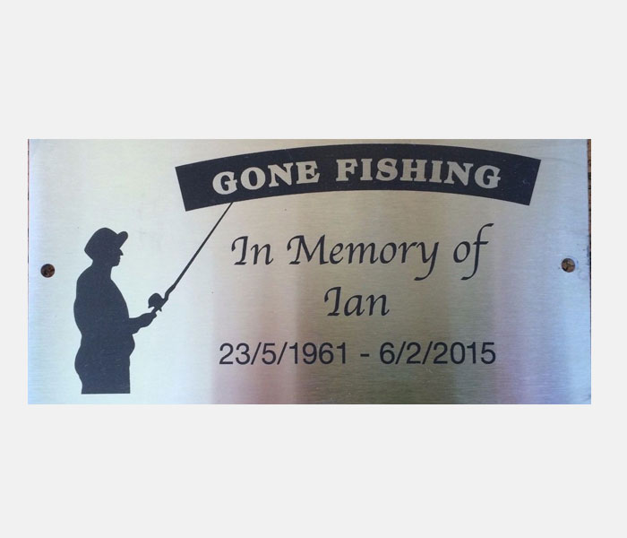 Grave Marker Plaque Engraved Memorial Stainless Steel 2 Mounting Holes 200x100mm
