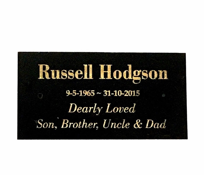 Memorials Grave Marker customised engraved black granite