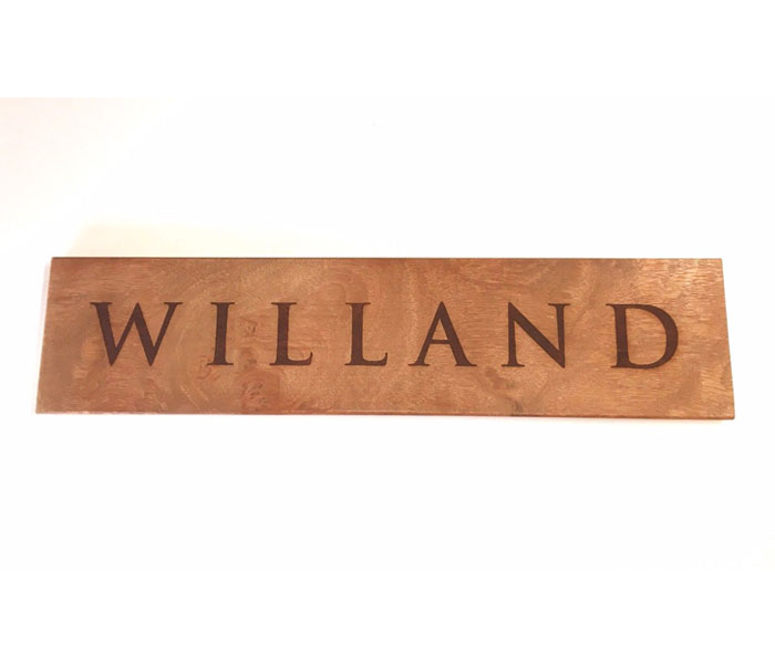Wood House Sign Custom Laser Engraved Hard Wood 300 x 140 mm